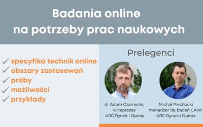 """Webinar """"Badania online na potrzeby prac naukowych"""